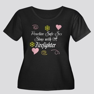 Safe Sex With A Firefighter Women's Plus Size Scoo