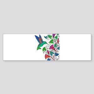 Rainbow Hummingbird on Trumpet Vine Bumper Sticker