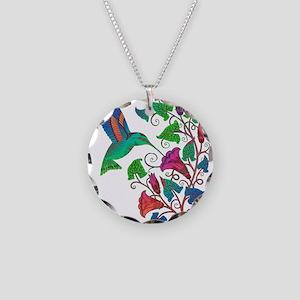 Rainbow Hummingbird on Trump Necklace Circle Charm