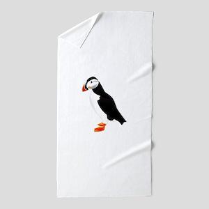 Pretty Puffin Beach Towel