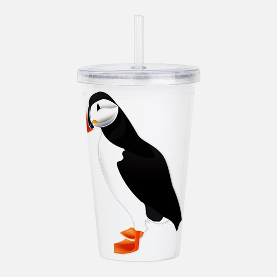 Pretty Puffin Acrylic Double-wall Tumbler
