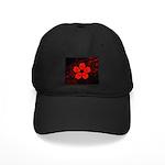 Red and Black Flower Baseball Hat