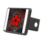 Red and Black Flower Hitch Cover