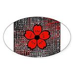 Red and Black Flower Sticker