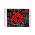 Red and Black Flower Magnets