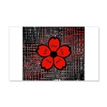 Red and Black Flower Wall Decal