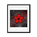 Red and Black Flower Framed Panel Print