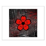 Red and Black Flower Posters