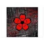 Red and Black Flower Invitations
