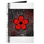 Red and Black Flower Journal