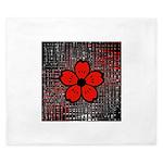 Red and Black Flower King Duvet