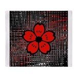 Red and Black Flower Throw Blanket