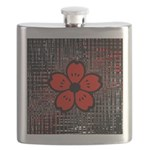 Red and Black Flower Flask