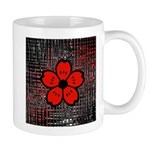 Red and Black Flower Mugs