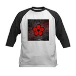 Red and Black Flower Baseball Jersey