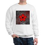 Red and Black Flower Sweatshirt