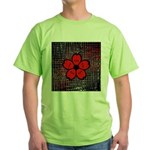 Red and Black Flower T-Shirt