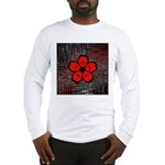 Red and Black Flower Long Sleeve T-Shirt