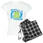 Frog on Blue Swirl Pajamas