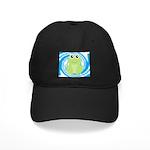 Frog on Blue Swirl Baseball Hat