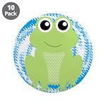 Frog on Blue Swirl 3.5