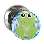 Frog on Blue Swirl 2.25