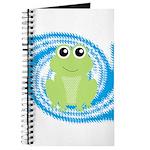 Frog on Blue Swirl Journal