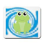 Frog on Blue Swirl Mousepad