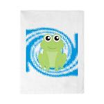 Frog on Blue Swirl Twin Duvet