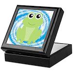 Frog on Blue Swirl Keepsake Box