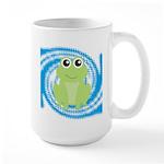 Frog on Blue Swirl Mugs