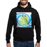 Frog on Blue Swirl Hoodie