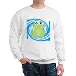 Frog on Blue Swirl Sweatshirt