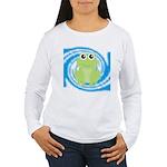 Frog on Blue Swirl Long Sleeve T-Shirt