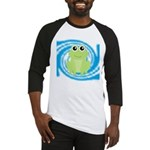 Frog on Blue Swirl Baseball Jersey