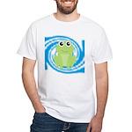 Frog on Blue Swirl T-Shirt