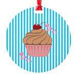 Pink Cupcake Love Ornament