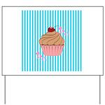 Pink Cupcake Love Yard Sign