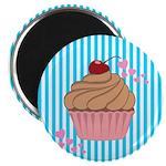 Pink Cupcake Love Magnets