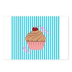 Pink Cupcake Love Postcards (Package of 8)