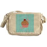 Pink Cupcake Love Messenger Bag