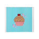 Pink Cupcake Love Throw Blanket