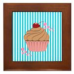 Pink Cupcake Love Framed Tile