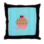 Pink Cupcake Love Throw Pillow