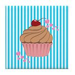 Pink Cupcake Love Tile Coaster