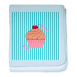 Pink Cupcake Love baby blanket