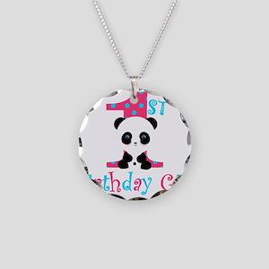 1st Birthday Girl Panda Bear Necklace