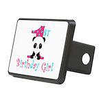 1st Birthday Girl Panda Bear Hitch Cover