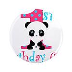 1st Birthday Girl Panda Bear 3.5