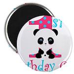 1st Birthday Girl Panda Bear Magnets